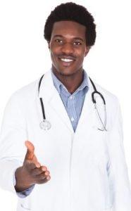 Doctor Extending Hand